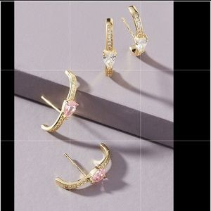 Anthropologie Jewelry - Anthropologie Shashi Sparkling half hoop Earring